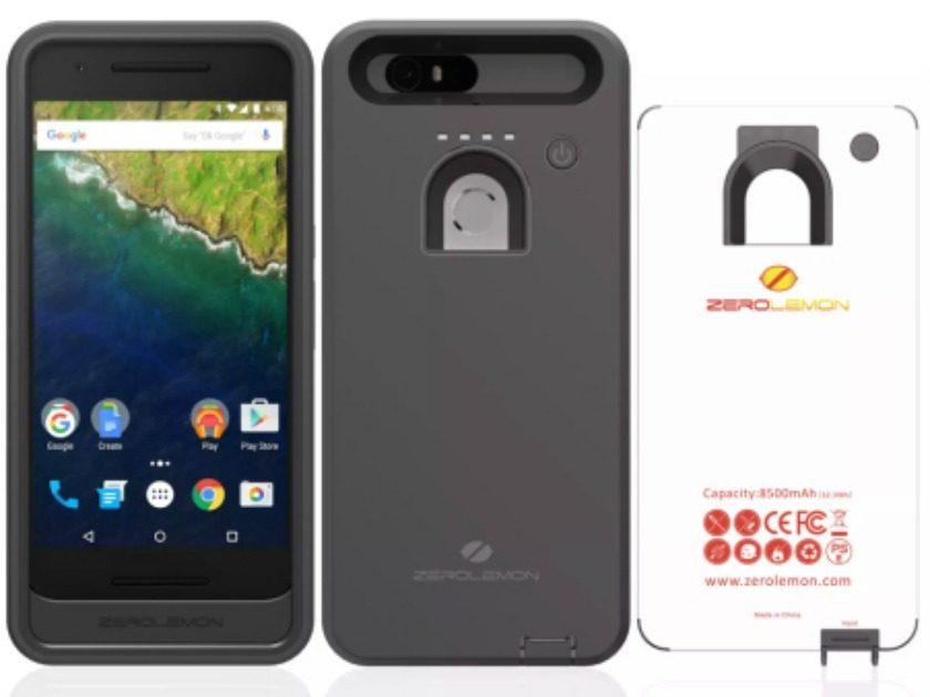 ZeroLemon Nexus 6P Battery Case front and back