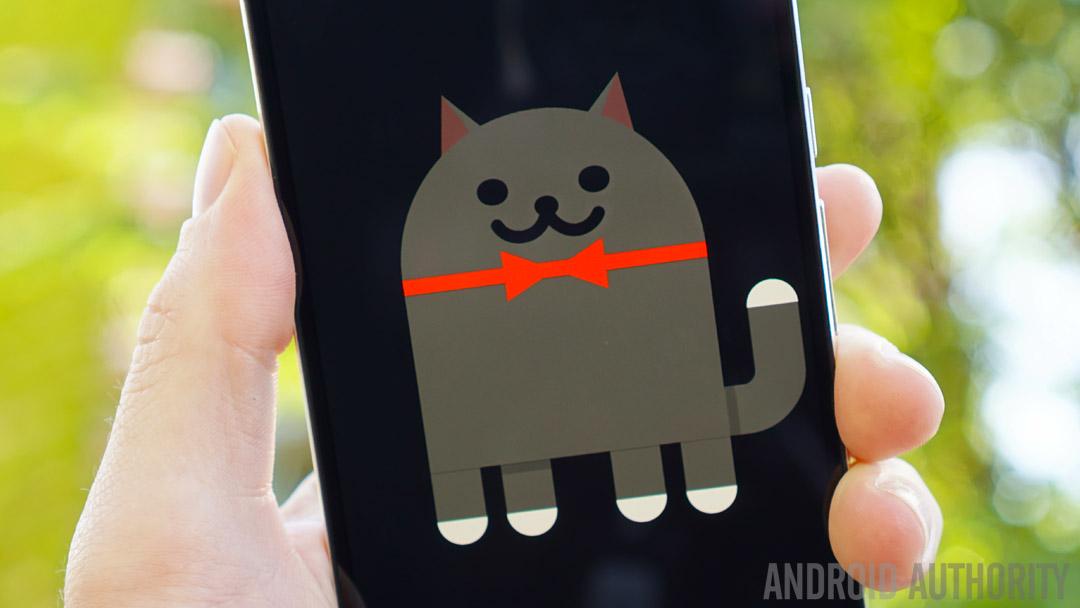 Android 7.0 Nougat review - Easter Egg Neko cat