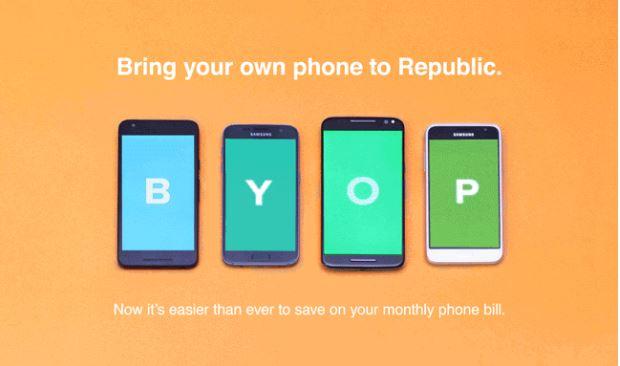 republic wireless byop