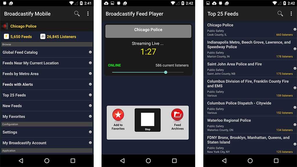 Broadcastify - best police scanner apps