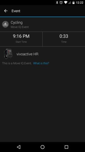 Garmin vivoactive HR screenshot Move IQ