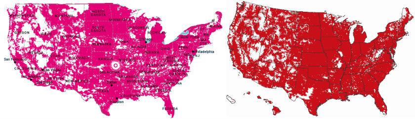 TMobile Claims Verizon Has Lost Its Coverage Advantage - T mobile coverage map us