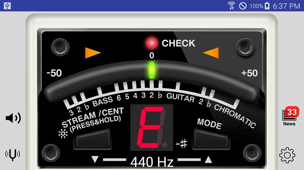 Boss Tuner - best guitar tuner apps
