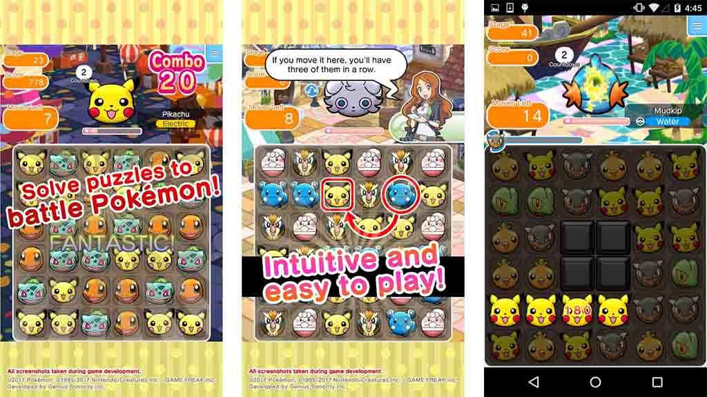 Pokemon Shuffle Mobile - best match-three games