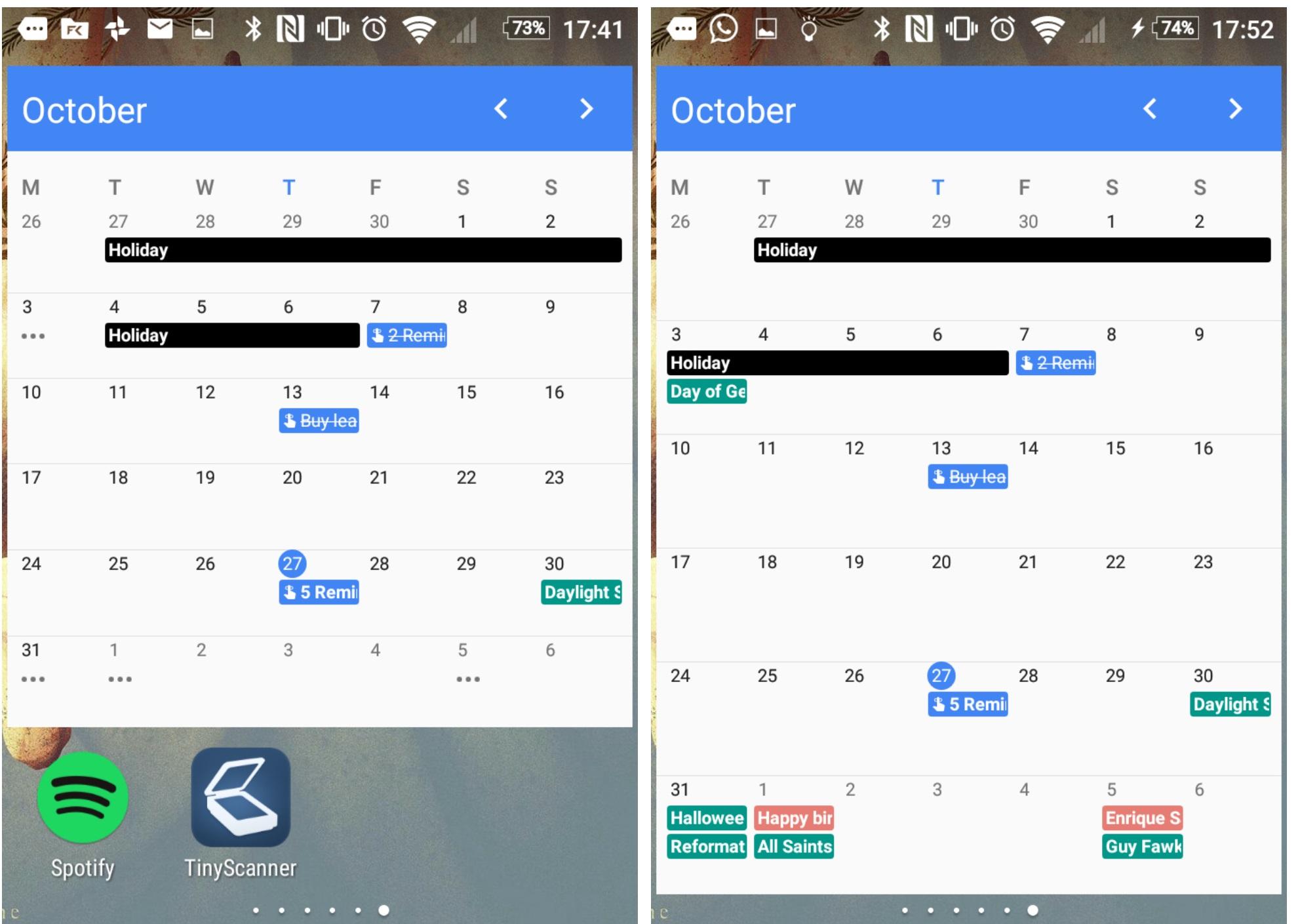 widget iphone google calendar