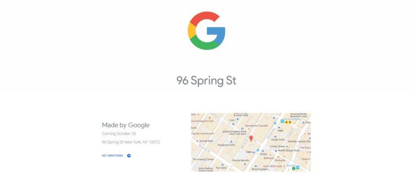 google pop up store new york