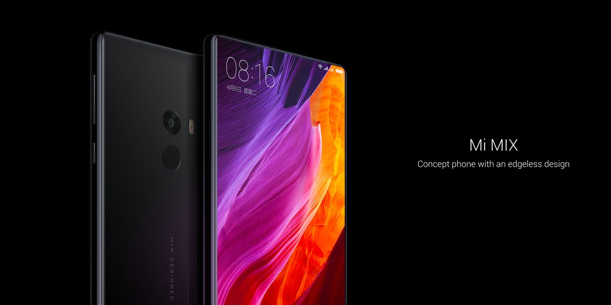 xiaomi teases mimix concept phone with a 91 3 screen to