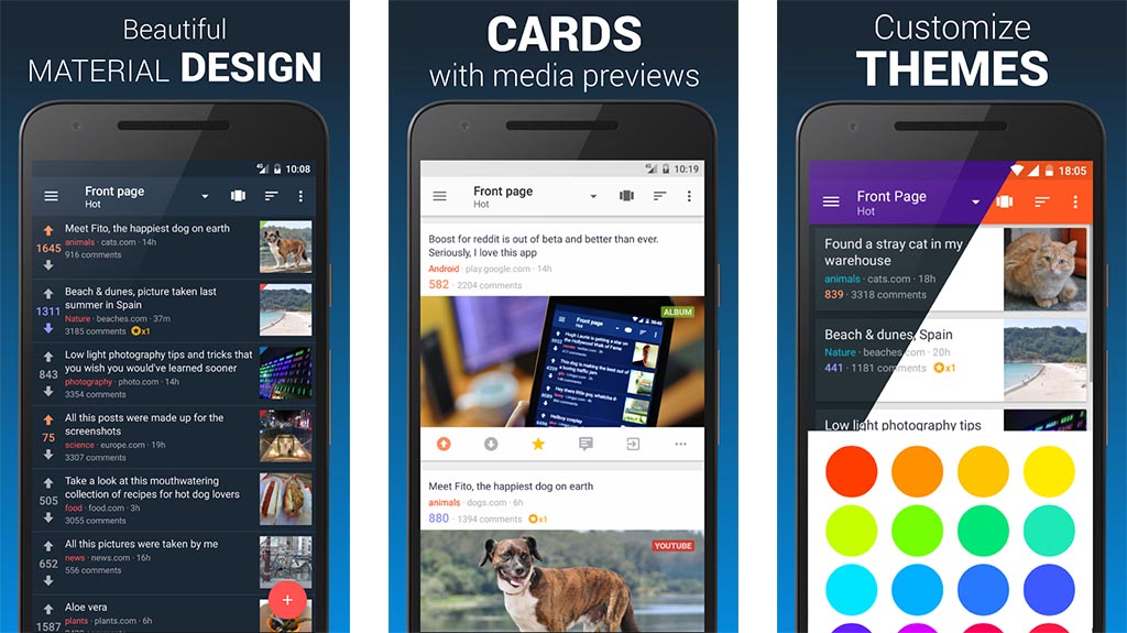 boost best Reddit apps for Android