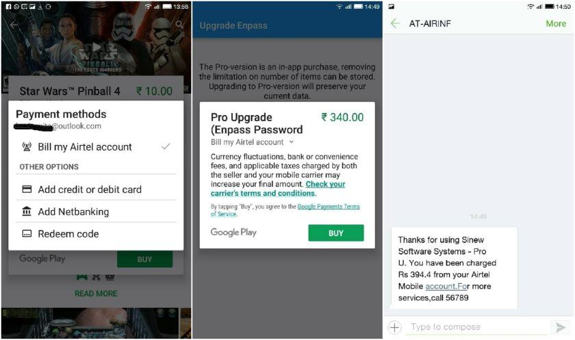 Google Play India Now Offers Carrier Billing for Airtel, Vodafone Postpaid Users