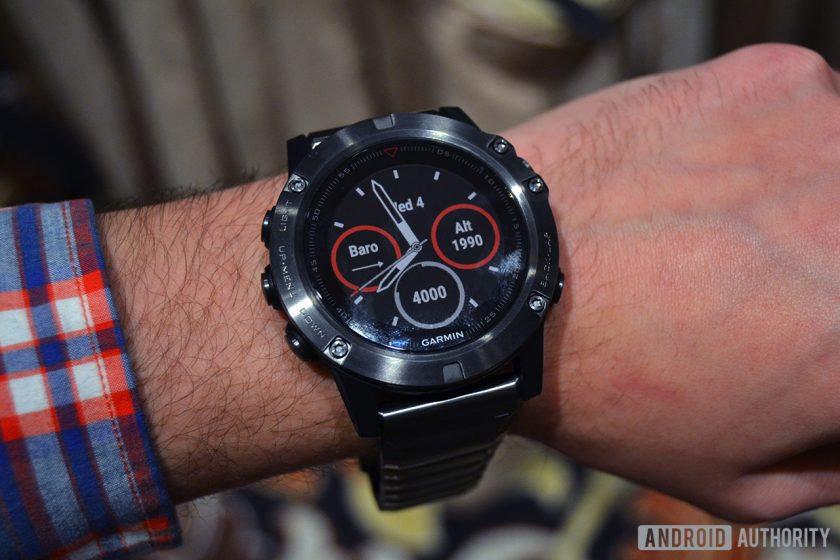 wrists on with garmin 39 s new fenix 5 lineup at ces 2017 android authority. Black Bedroom Furniture Sets. Home Design Ideas