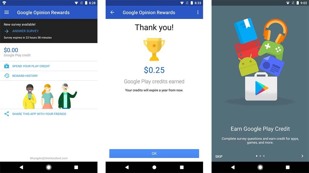 نتيجة بحث الصور عن Google Opinion Rewards