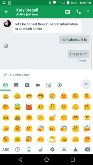 hangouts android emoji keyboard