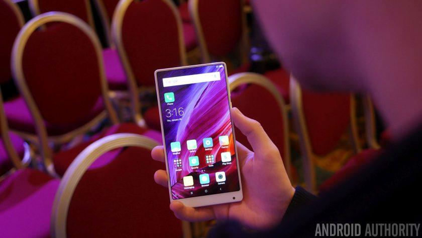 Xiaomi Mi mix 3 held in hand