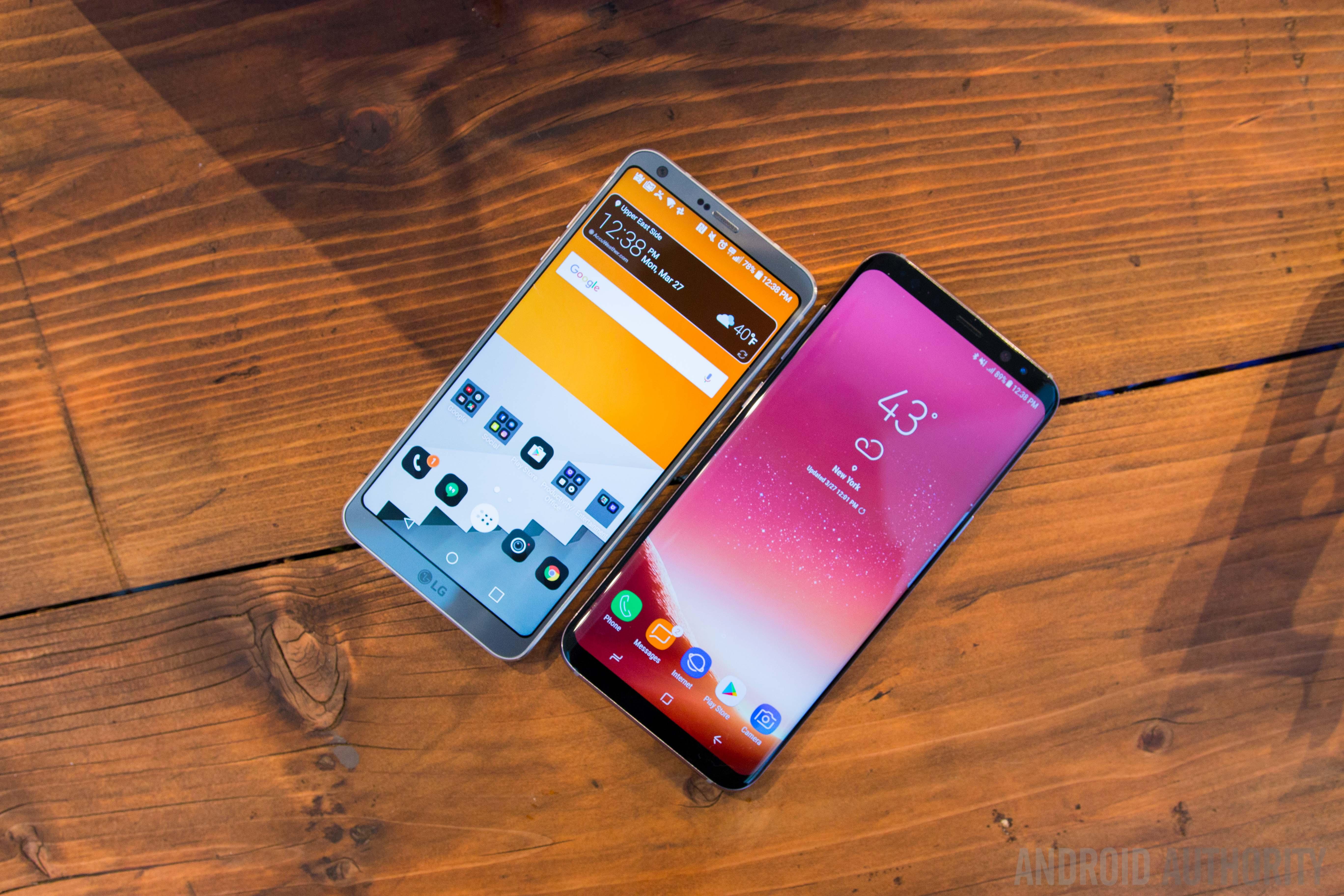 Samsung Galaxy S8 vs LG G6 comparison