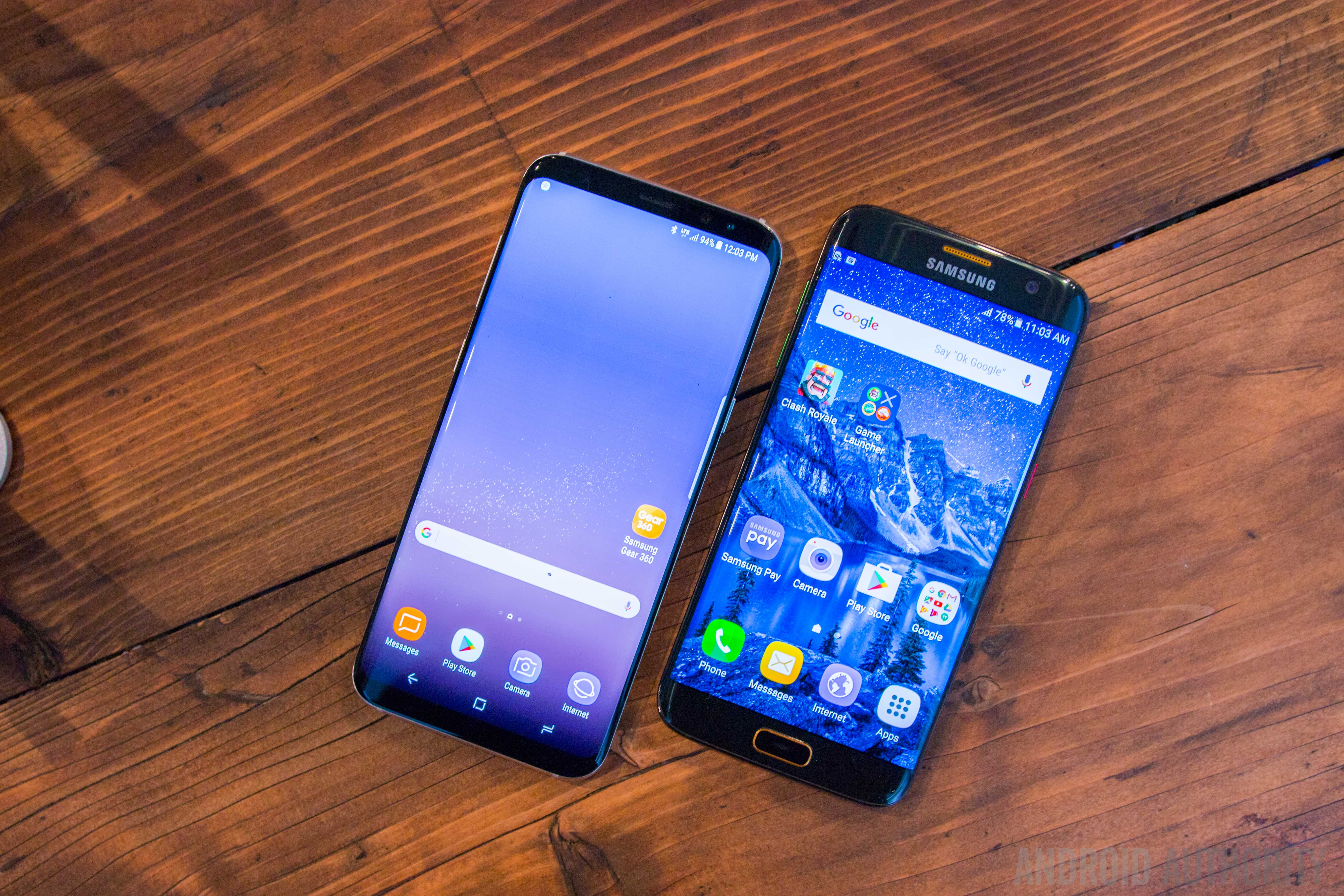galaxy s8 plus vs galaxy s7 edge how big is the generation gap android authority. Black Bedroom Furniture Sets. Home Design Ideas