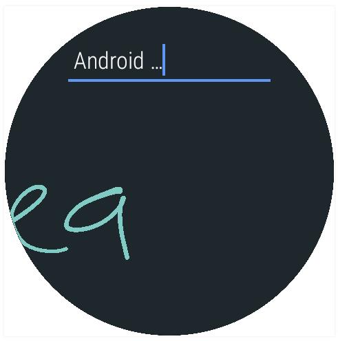 Pisanie ręczne - Android Wear 2.0