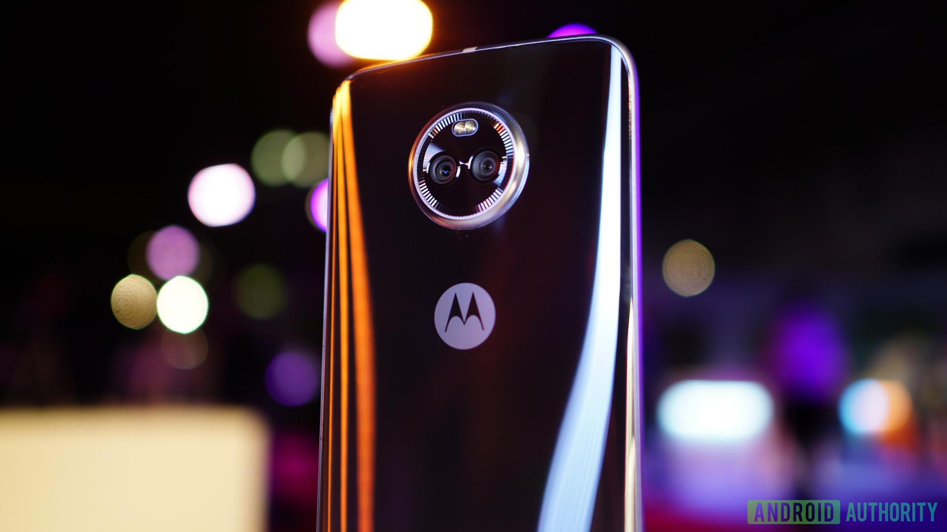 The Motorola Moto X4 from behind.