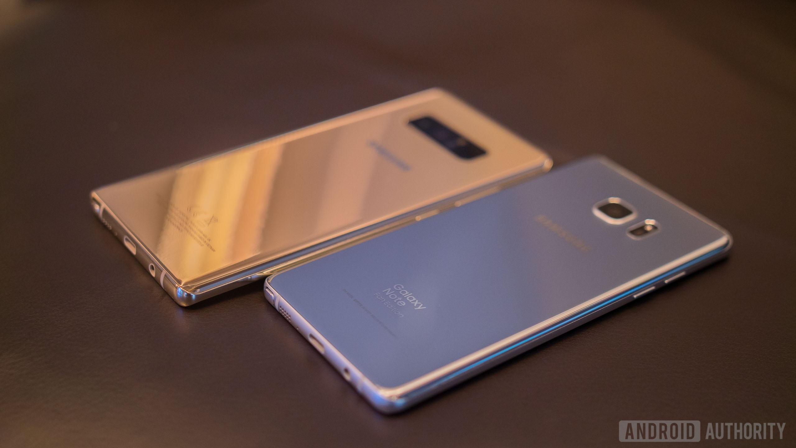 Samsung Galaxy Note 8 vs Samsung Galaxy Note Fan Edition