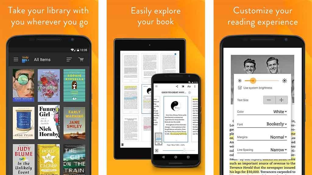 Amazon Kindle - best reading apps
