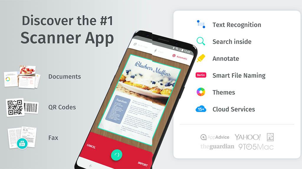 Scanbot - best document scanner apps