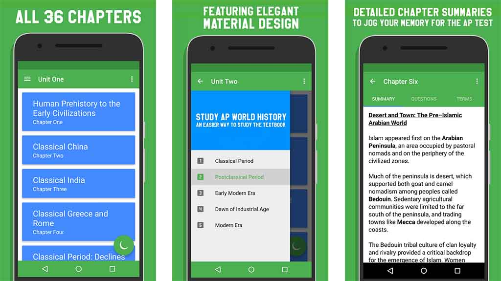 Study AP World History - best history apps for android