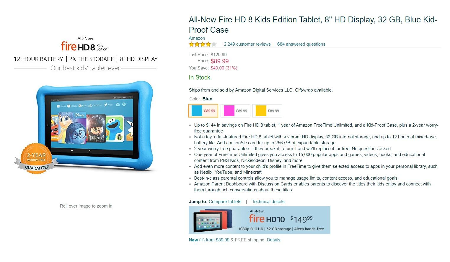 Amazaon Kids Fire Tablets Black Friday