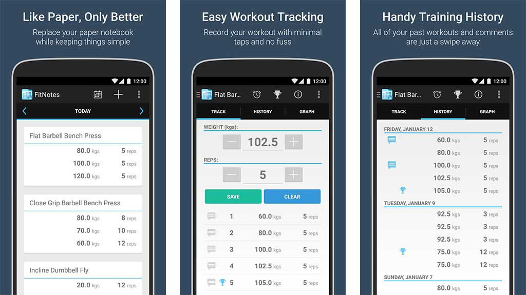 FitNotes is one of the best workout apps for android