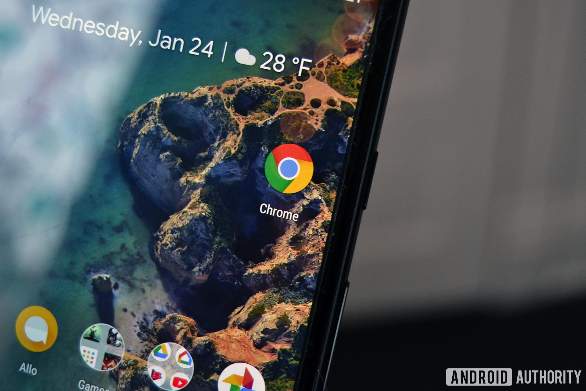 Google Chrome on the Google Pixel 2 XL.