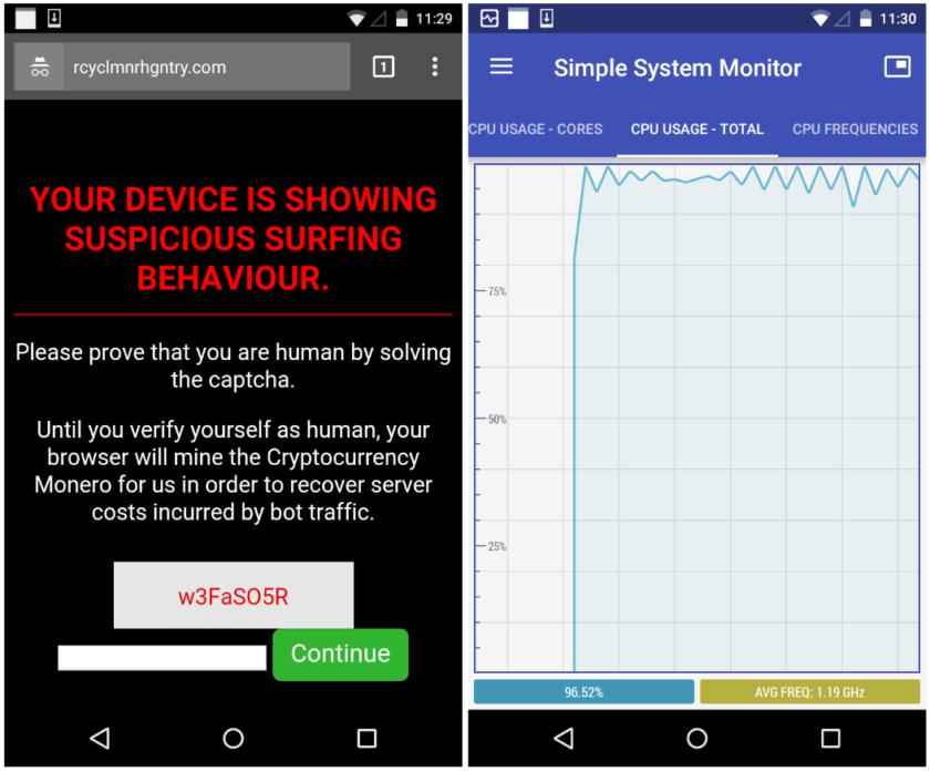 hack smartphone to mine cryptocurrency