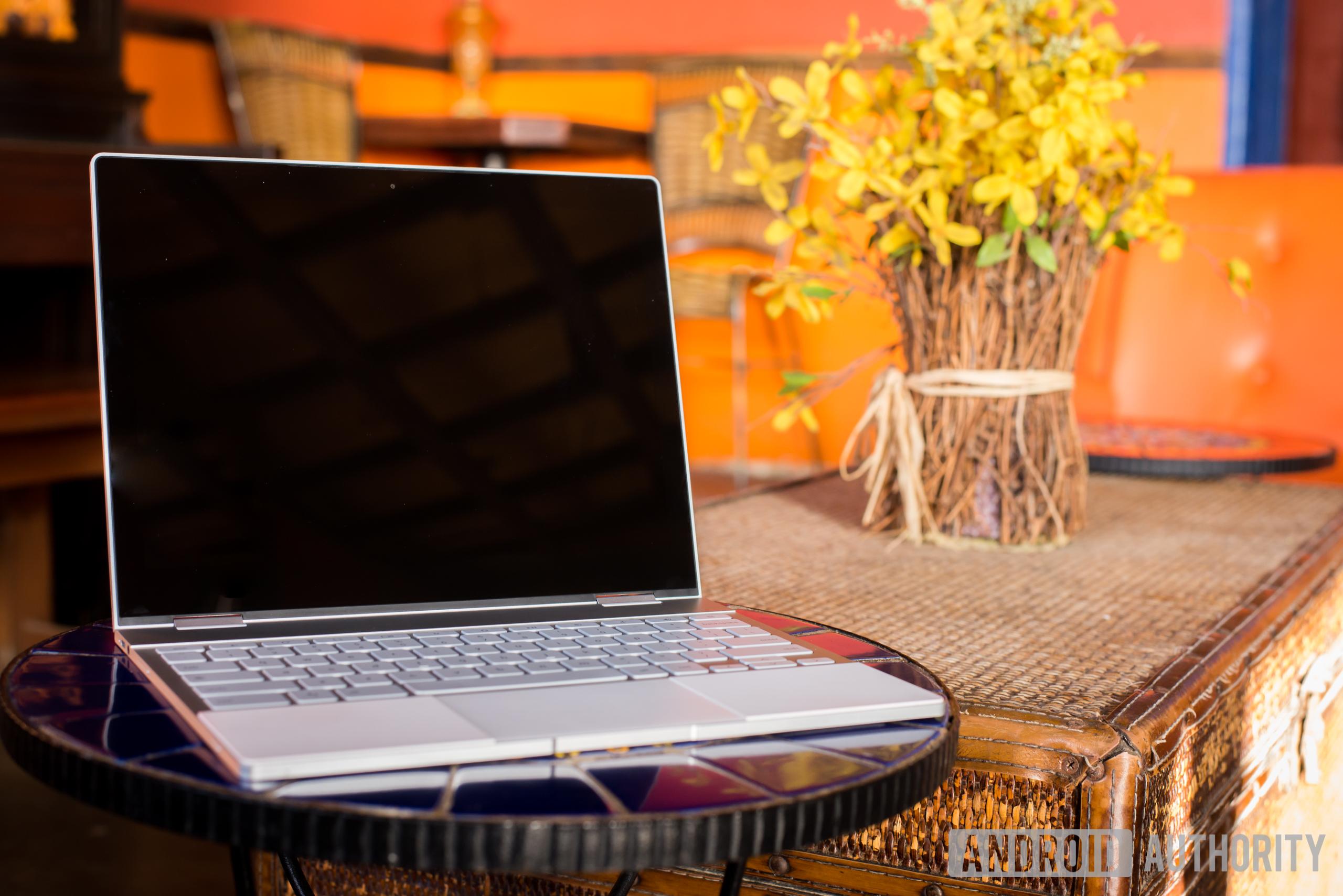pixelbook on table