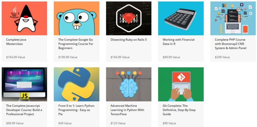 Learn how to code at your own pace with 9 courses & 210+