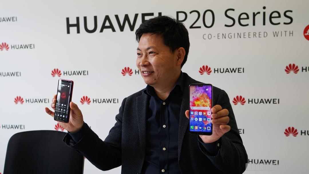 Huawei's Richard Yu with the P20 series