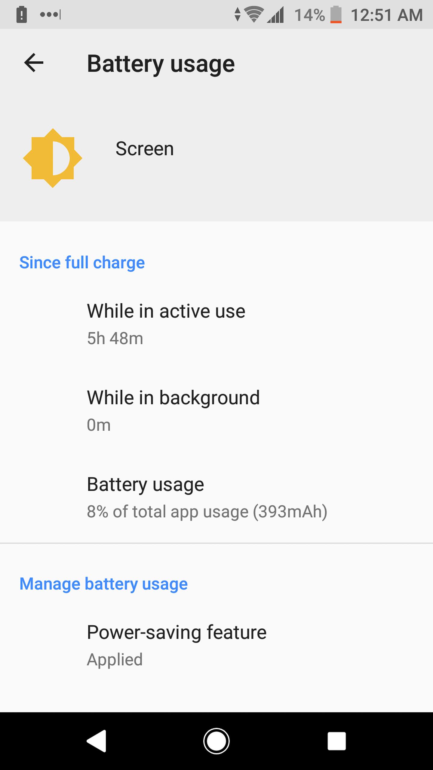 Sony Xperia XA2 Ultra battery usage