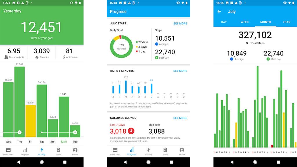 Runtastic Steps - best pedometer apps