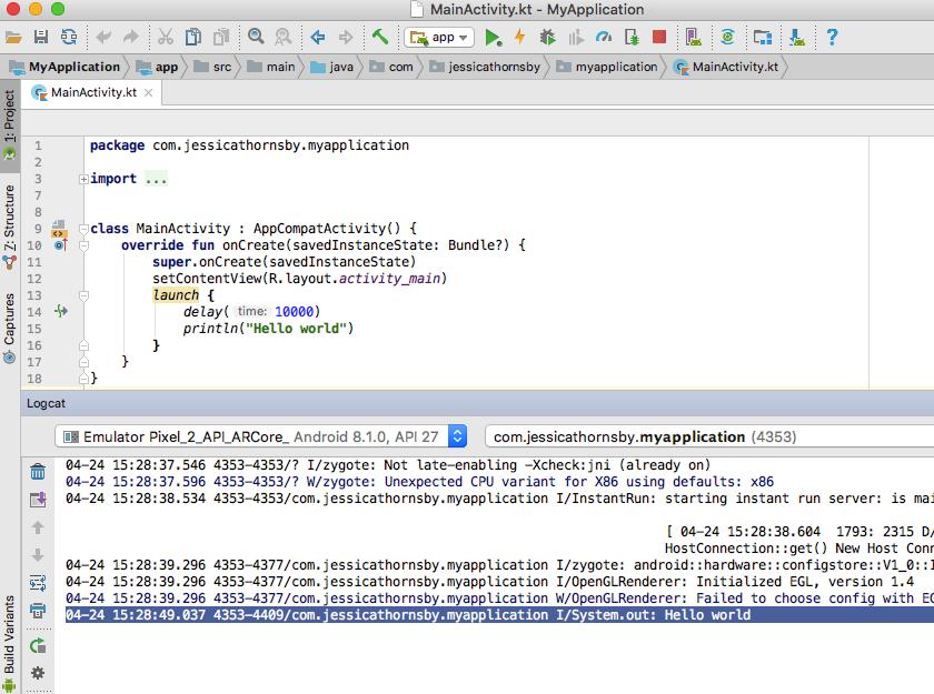 - simple asynchronous programming Kotlin coroutines - Simplify asynchronous programming with Kotlin's coroutines