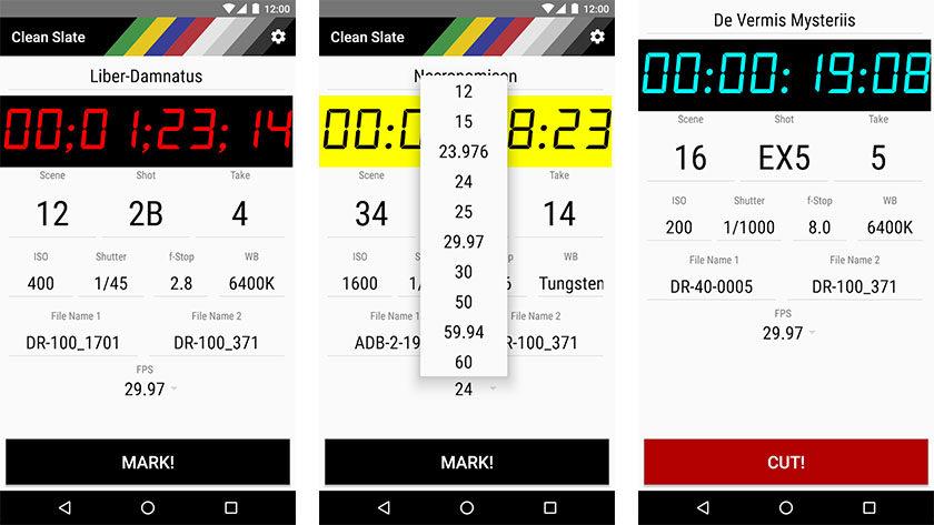 Clean Slate - las mejores aplicaciones de cineastas para Android