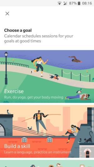 Google calendar goals to set up