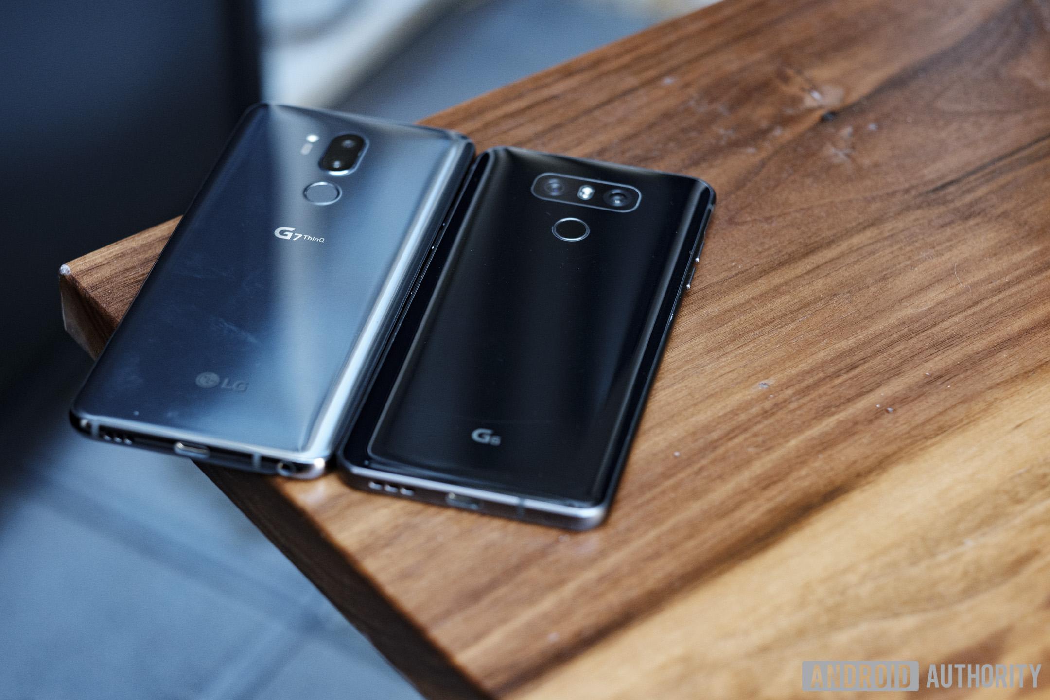 LG G7 vs LG G6 design