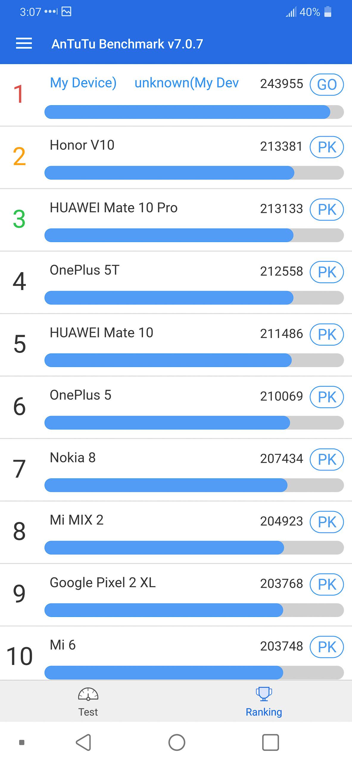 antutu LG 7 Thing benchmark performance test