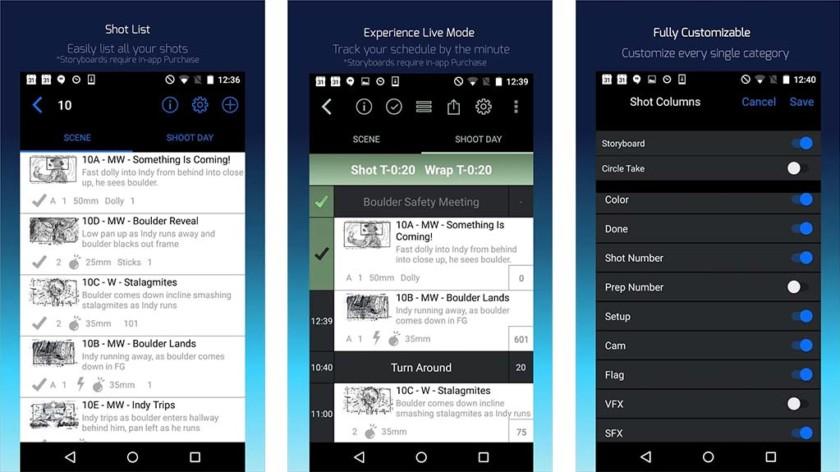 Shot Lister - best filmmaker apps for android