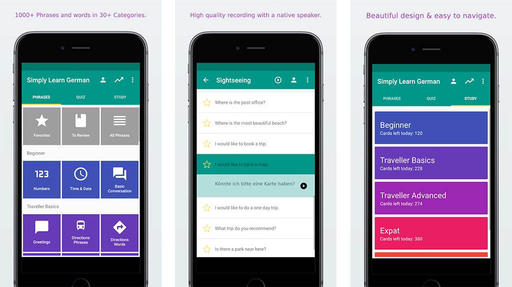 Simpy Learn German app