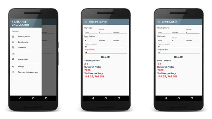 TimeLapse Calculator  - TimeLapse Calculator screenshot 840x472 - 10 best filmmaker apps for Android!