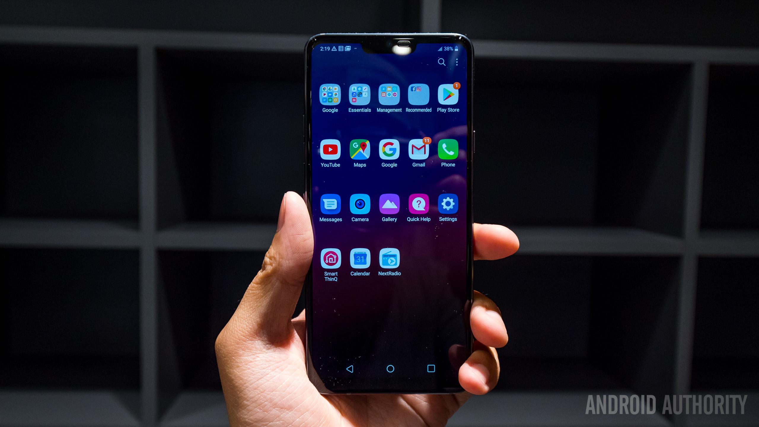 LG G7 ThinQ apps