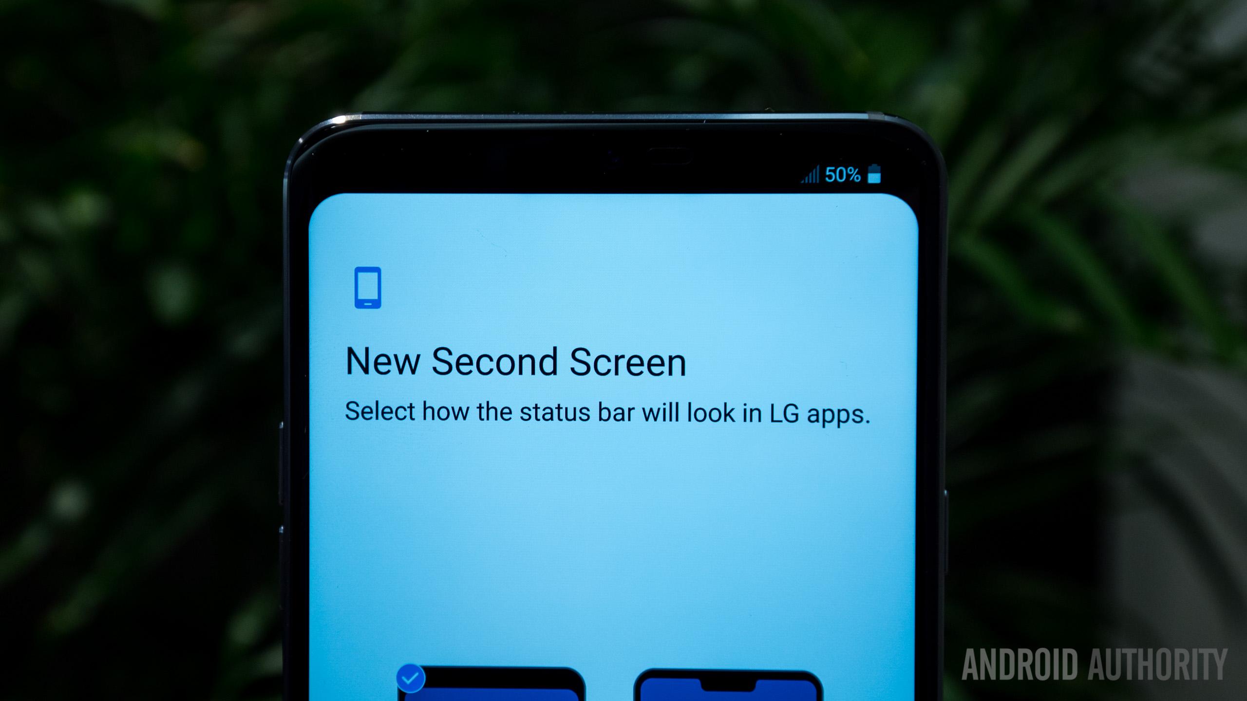 LG G7 ThinQ second screen