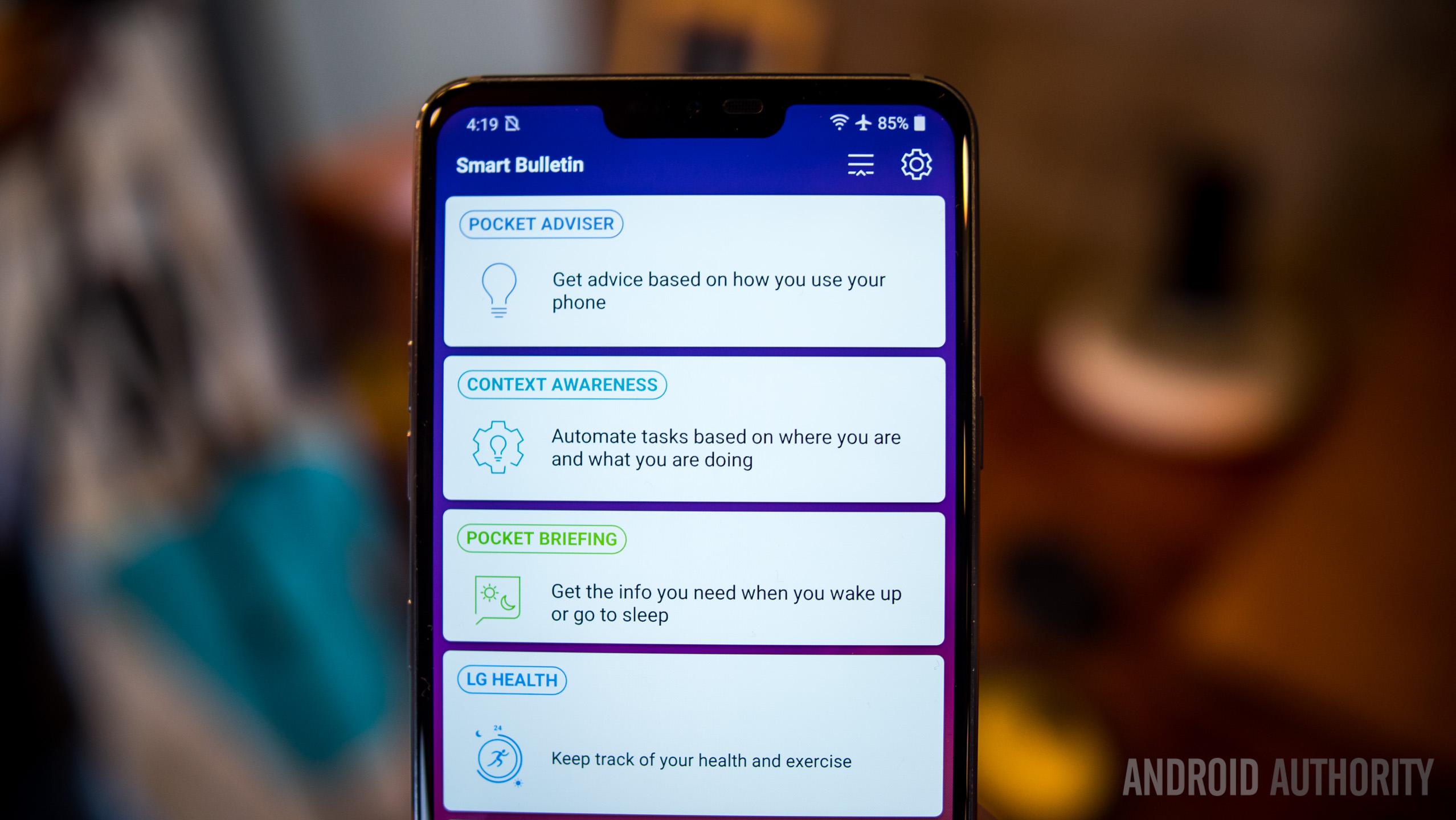 LG G7 ThinQ smart bulletin