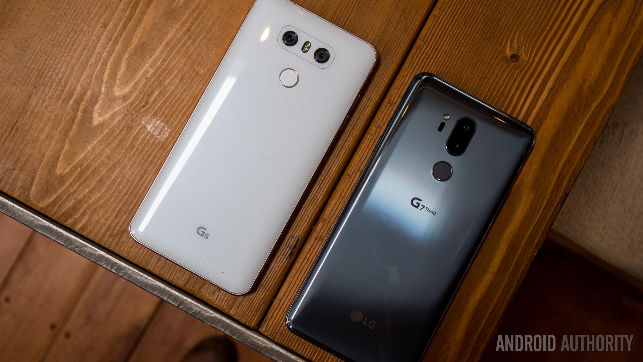 LG G7 vs LG G6 camera