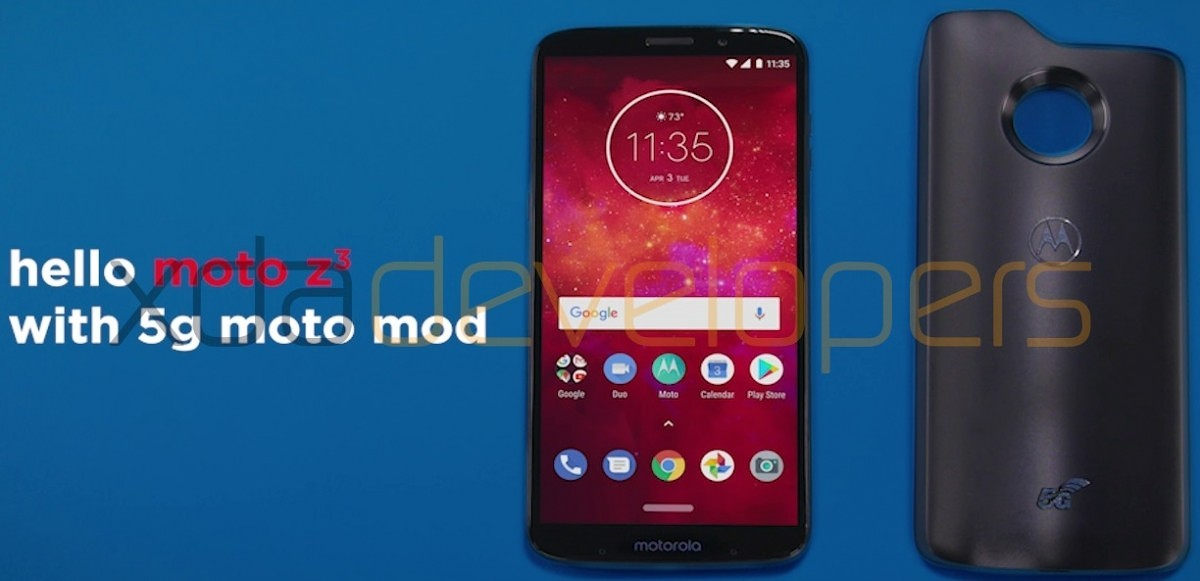 Moto Z3 Play and 5G Moto Mod.