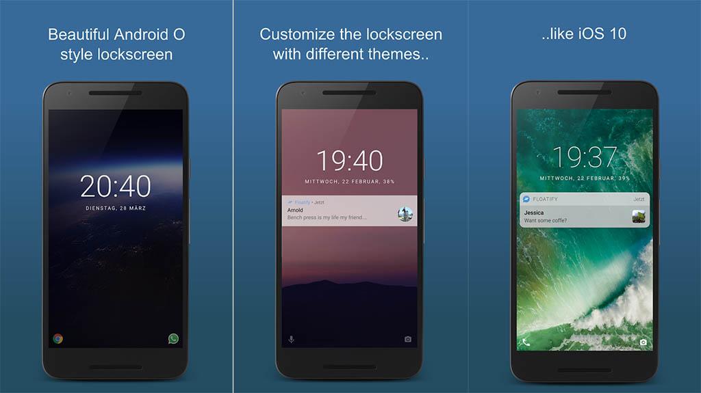 Floatify - best lock screen apps