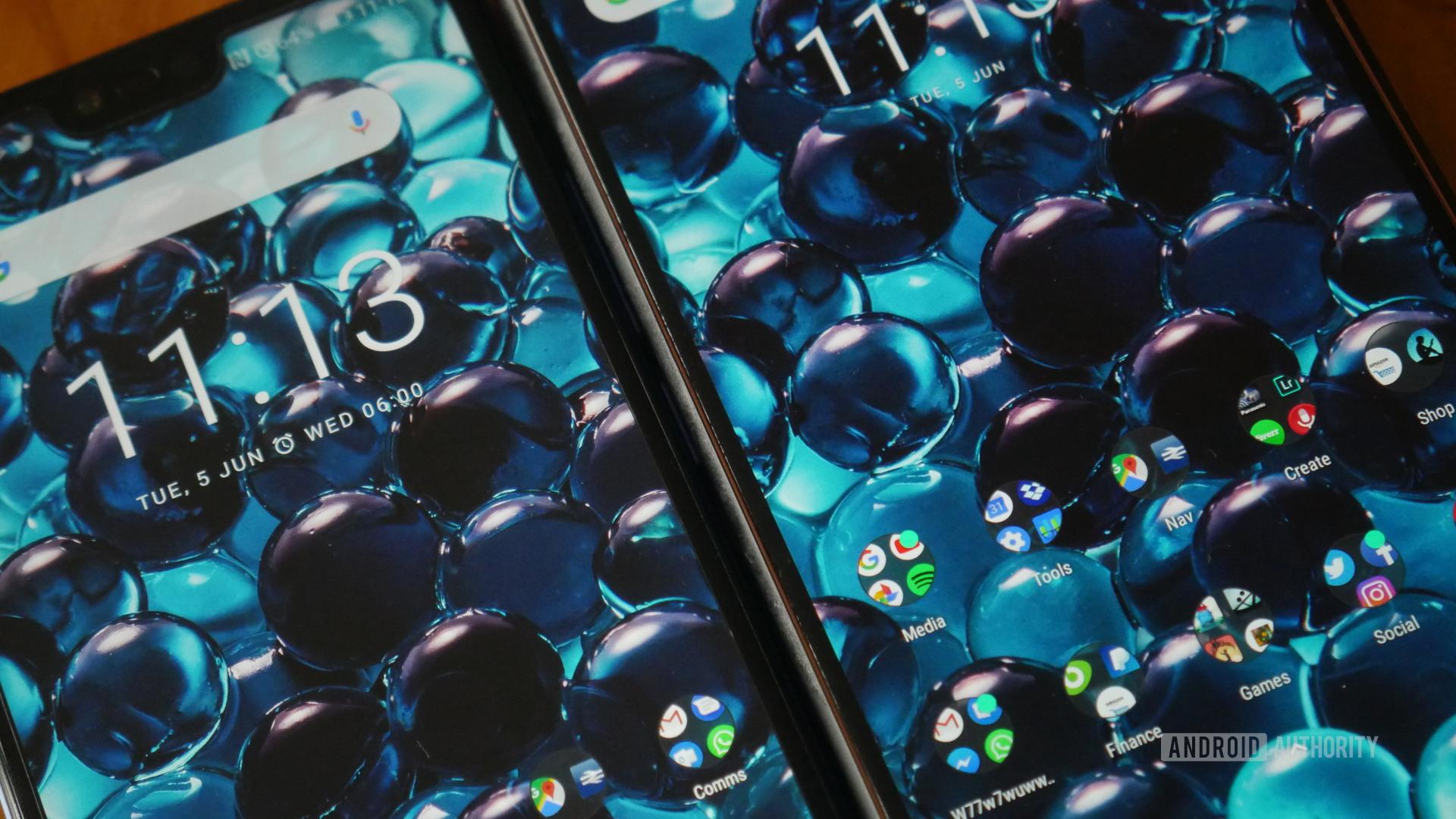 Honor 10 Nokia 7 Plus Screens