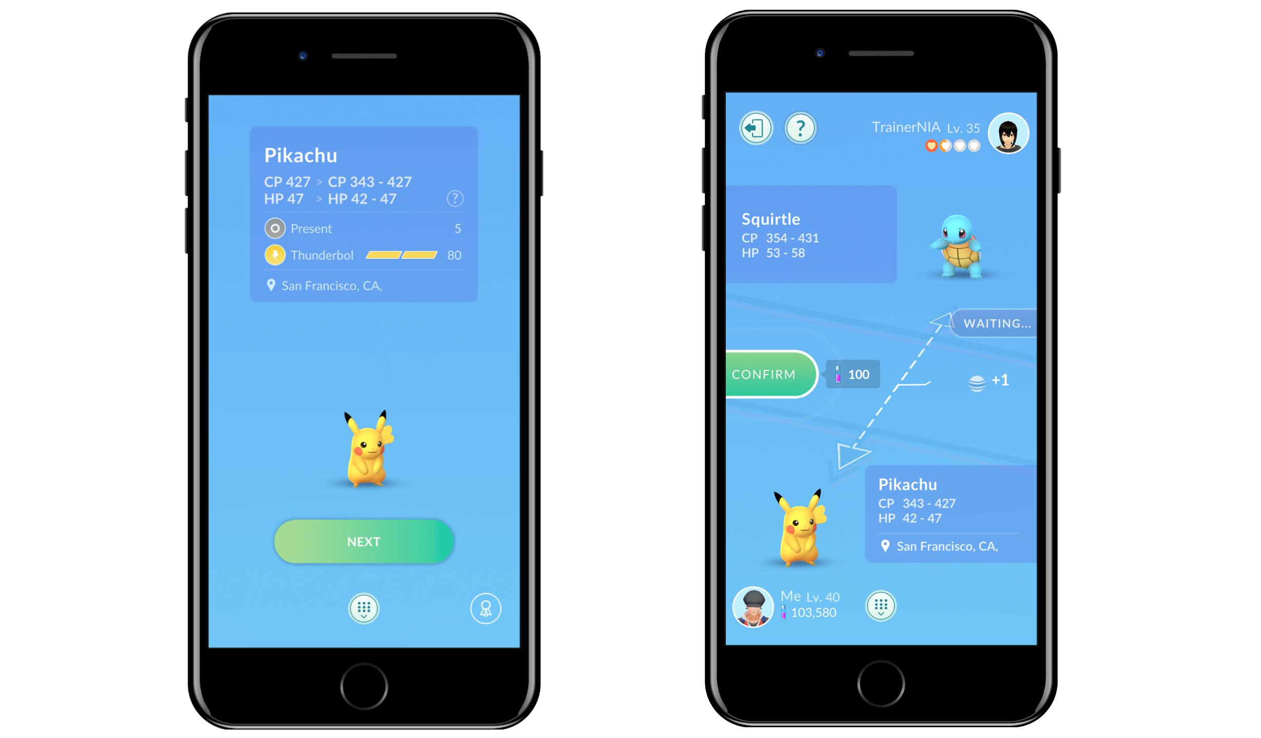 Pokemon Go trade Pikachu